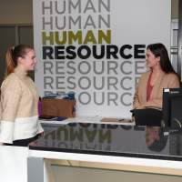 Human resources counter.