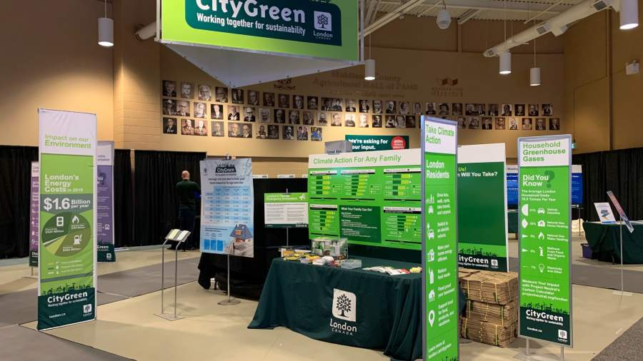 A CityGreen display booth at the 2020 Home Show.